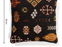 Sierkussen 50x50 Bolivian Etis Black Floorpassion X Fred