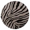 Fred van Leer Rond vloerkleed Serengeti Zebra - Floorpassion X Fred