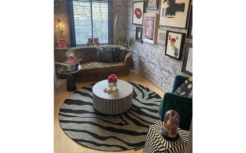 Rond vloerkleed Serengeti Zebra - Floorpassion X Fred