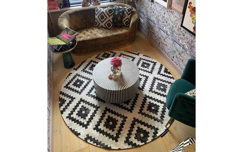 Touch of Maroc  -Rond Vloerkleed in tijdloos design by Fred van Leer -