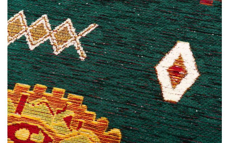 Rond vloerkleed Bolivian Etis Smaragd Green - Floorpassion X Fred