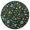 Fred van Leer Rond vloerkleed Bolivian Etis Smaragd Green - Floorpassion X Fred