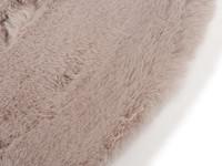 Hampton Mauve Grey - Rond hoogpolig vloerkleed