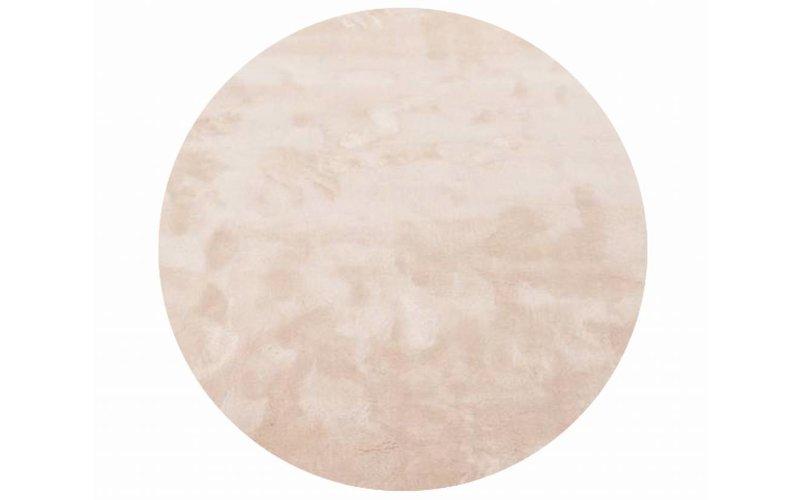 Sandro 11 - Rond hoogpolig vloerkleed in Ivory White