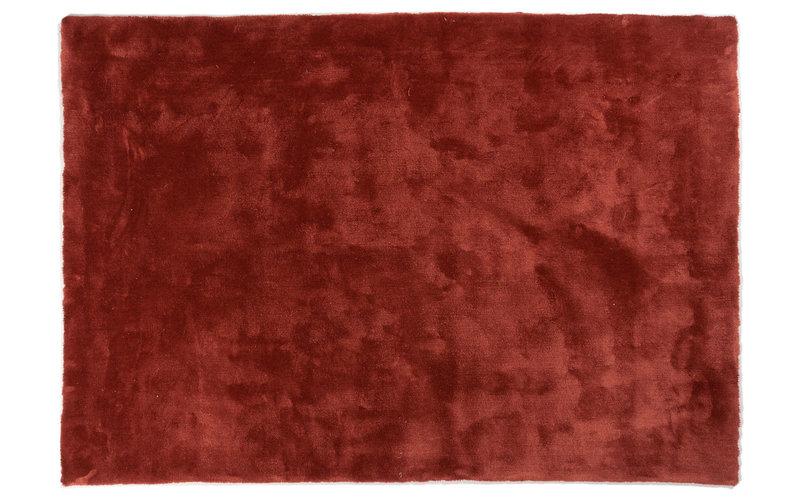 Sandro 63  - Velours vloerkleed in Barn Red