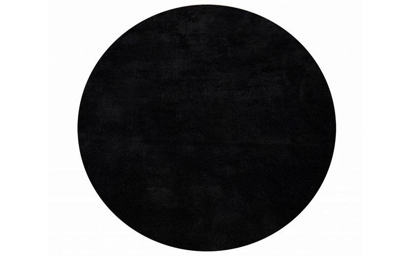 Sandro 25 - Rond velours vloerkleed Carbon Black