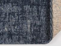 Réal 35 - Rond Vintage vloerkleed donkerblauw