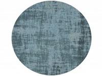 Réal 33 - Rond Vintage vloerkleed in turquoise