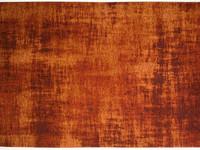 Réal 63 - Vintage vloerkleed in Oranje / Bruin