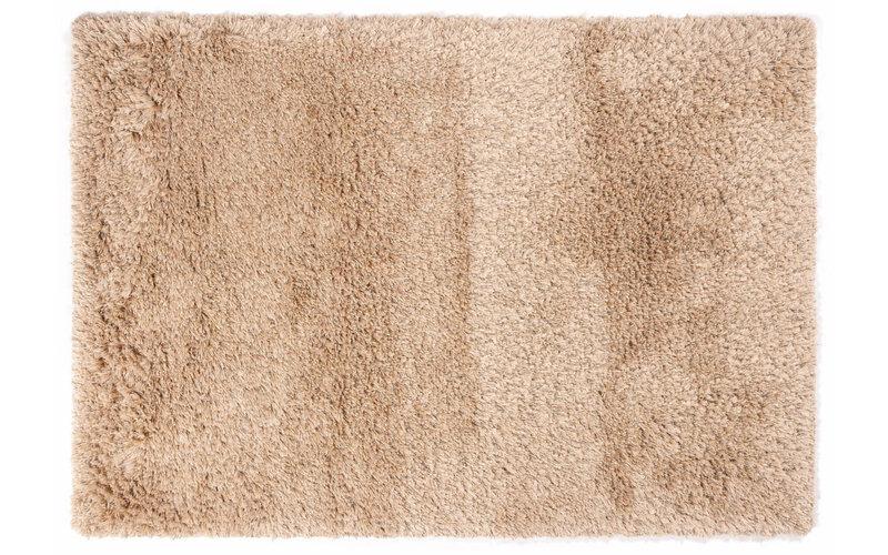 Dime 12 - Luxe Hoogpolig vloerkleed in Beige / Zand