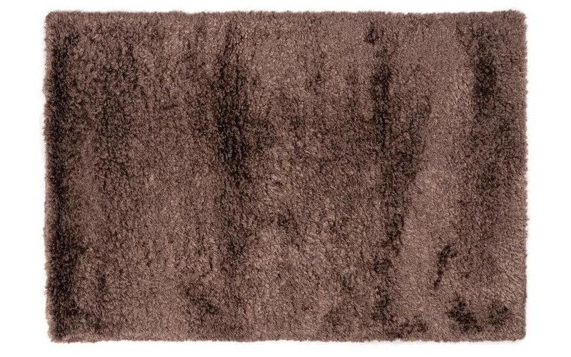 Dime 23- Luxe hoogpolig vloerkleed in Chocolate Grey