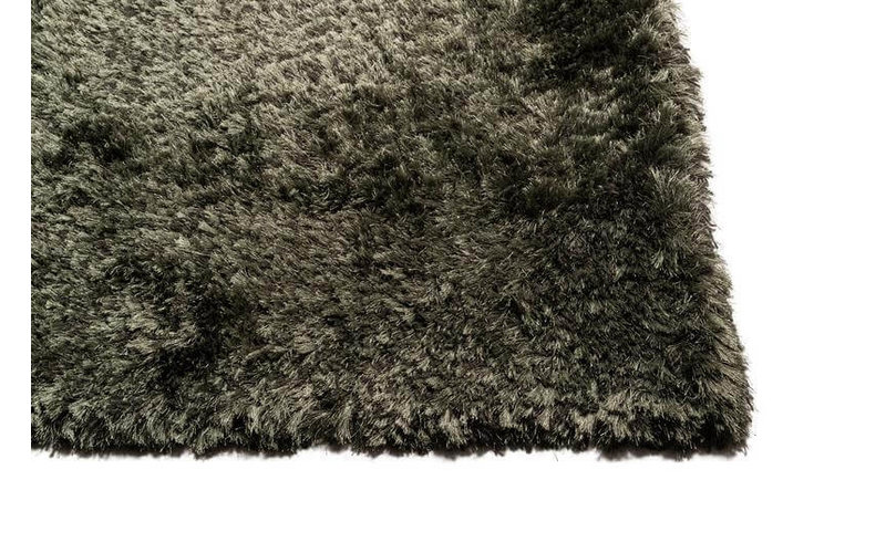 Dime 53- Luxe hoogpolig vloerkleed in Platinum Green Grey