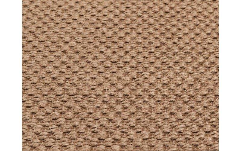 Havard 21 - Rond sisal vloerkleed Zilvergrijs met blinde bandafwerking