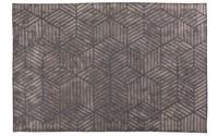 Velours grijs geometrisch vloerkleed - Romain  23 Grey