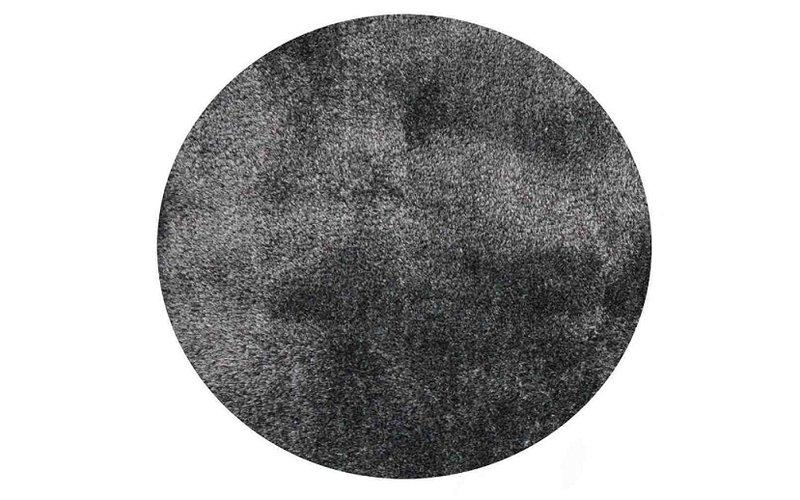 Ross 31 - Rond hoogpolig vloerkleed in lichtgrijs-blauw