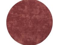 Sandro 63  - Rond hoogpolig vloerkleed in Barn Red