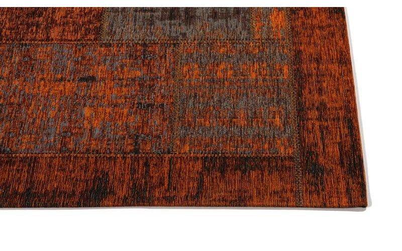 Enzo 65 - Prachtig vintage vloerkleed in  Terra Brique kleurstelling