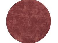 Sandro 44  - Rond hoogpolig vloerkleed in Oudroze