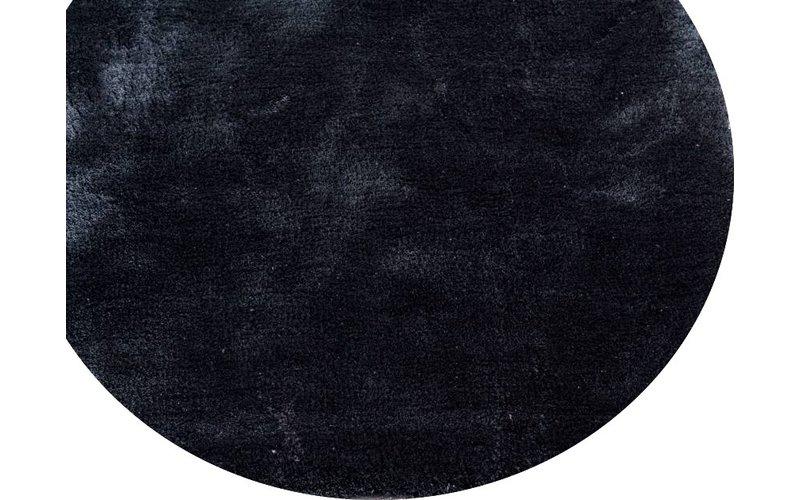Sandro 24  - Rond hoogpolig vloerkleed Intense Grey / Blue