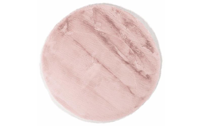 Hampton Soft Pink - Rond hoogpolig vloerkleed