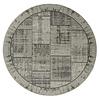 Floorpassion Enzo 24- Rond vintage vloerkleed antraciet grijze kleurstelling