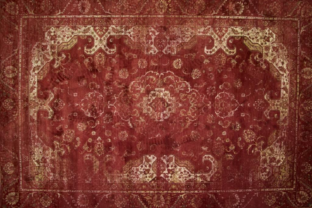 da503f8791f518 Vintage vloerkleed Angkor 45 in het rood kopen  -Floorpassion