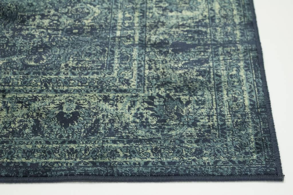 321a96e21d486d Vintage vloerkleed Angkor in het donkerblauw kopen  -Floorpassion
