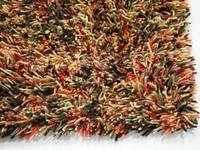 Brussel 69 -  Prachtig hoogpolig wollen vloerkleed in Multi-kleurstelling
