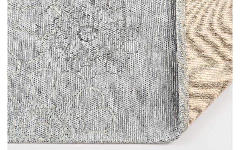 Chatel 21 - Patchwork vloerkleed met prachtig bloemendesign in het lichtblauw