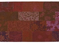 Chatel 48 - Patchwork vloerkleed met prachtig bloemendessin in het Paars