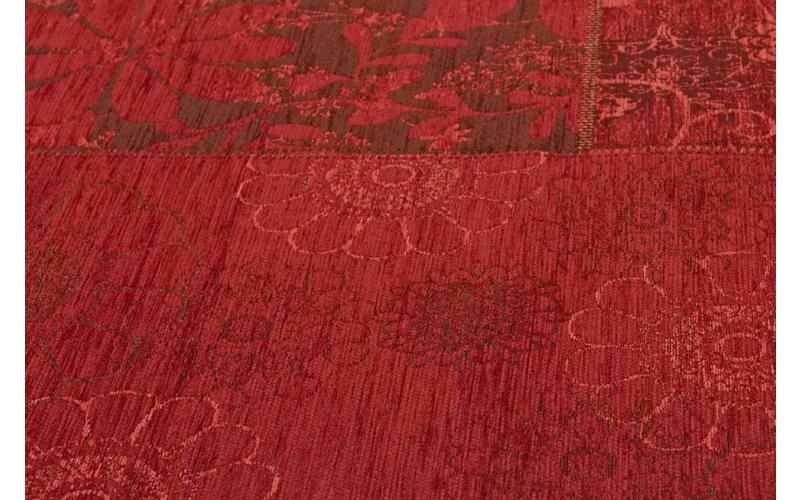 Chatel 45 - Patchwork vloerkleed met prachtig bloemendessin in het rood
