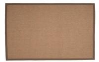 Havard 21 - Sisal vloerkleed met Grijze tinten en Katoenen bandafwerking