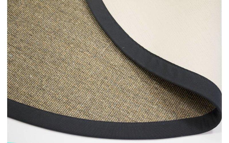 Premium 16 - Rond sisal vloerkleed in natuurlijk kleurstelling.