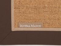 Prachtig Rivièra Maison vloerkleed met donker bruine band
