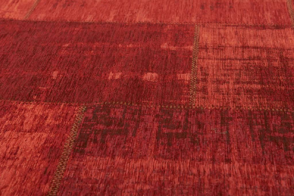 a05c45ce770088 Uniek Vintage vloerkleed in Rode Kleurstelling - Enzo 45 ...