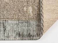 Enzo 16 - Prachtig vintage vloerkleed met bruin/grijze garen