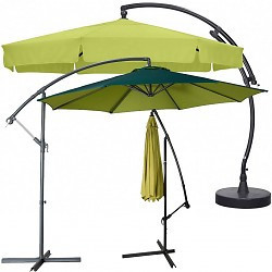 Curved parasol cover