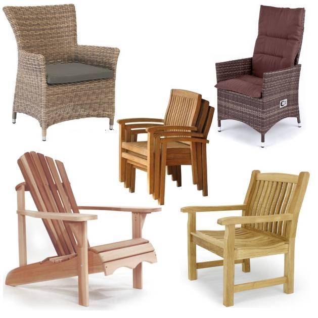 Protection covers for garden chairs