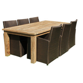Outdoor covers for rectangular furniture sets