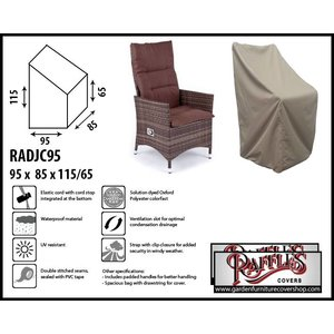 Raffles Covers Protection cover for outdoor chair, 95 x 85 H: 115 / 65 cm