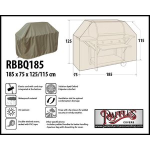 Raffles Covers Universal cover for barbecue, 185 x 75 H: 125 / 115 cm