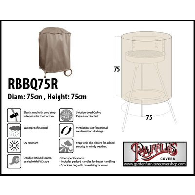Raffles Covers Barbecue Cover for Kettle Barbecue 75 cm H: 75 cm
