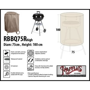 Raffles Covers Protection case for barbecue, 75 cm H: 100 cm
