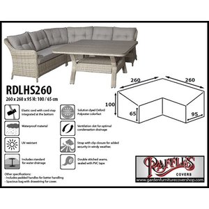 Raffles Covers Cover for dining loungeset, 260 x 260 x 95, H: 100 / 65 cm