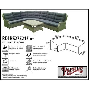 Raffles Covers Cover for a lounge dining set, 275 x 215 x 95, H: 100 / 65 cm