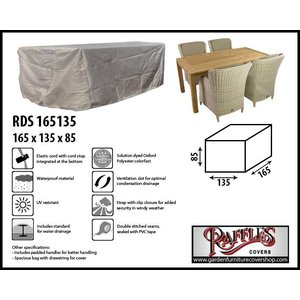 Raffles Covers Garden cover for dining furniture, 165 x 135 H: 85 cm