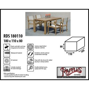 Raffles Covers Outdoor furniture set cover, 180 x 110 H: 80 cm