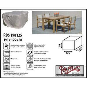 Raffles Covers Cover for garden furniture dining set, 190 x 125 H: 80 cm