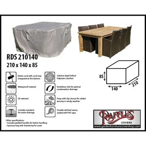 Raffles Covers Cover for outdoor dining set, 210 x 140 H: 85 cm