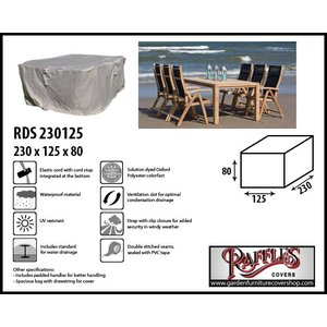 Raffles Covers Cover for rectangular dining set, 230 x 165 H: 90 cm